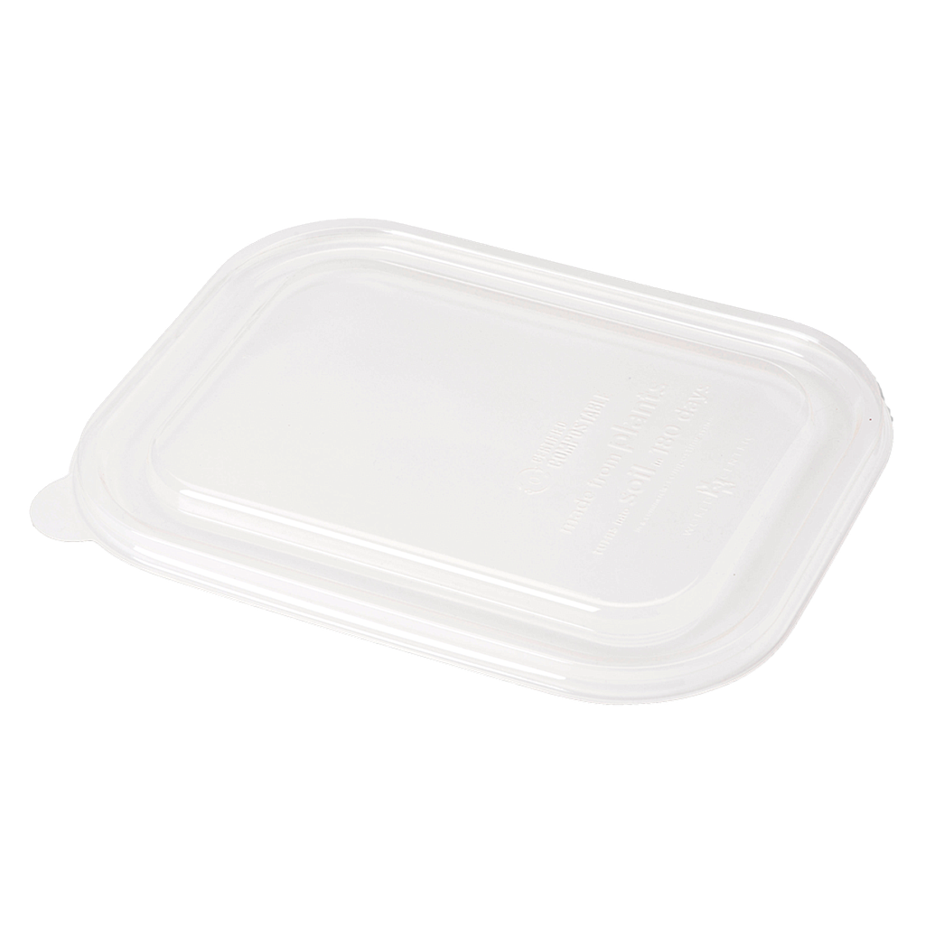 "*SPECIAL ORDER ITEM* Lid for 17 oz Fiber Tray, Size: 8""x6""x1.5"", Material: PLA, Color: Clear, Compostable, 400/cs *ESTIMATED DELIVERY 4 TO 6 WEEKS* (NOT RETURNABLE)"