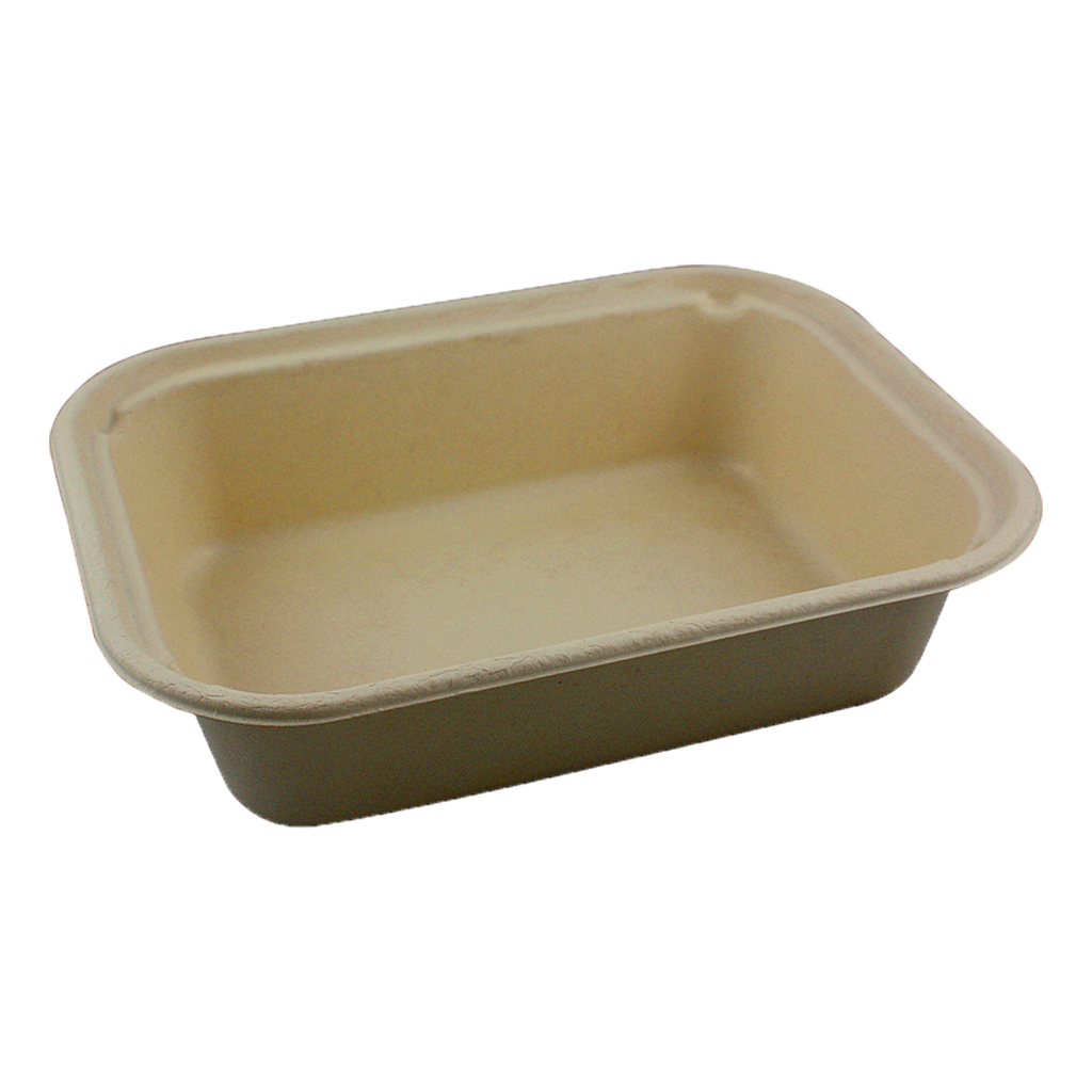 "*SPECIAL ORDER ITEM* 60 oz Fiber Tray, Size: 10""x7.5""x2.5"", Material: Unbleached Plant Fiber, Color: Natural, Compostable, 400/cs * SEE DETAILS BELOW"