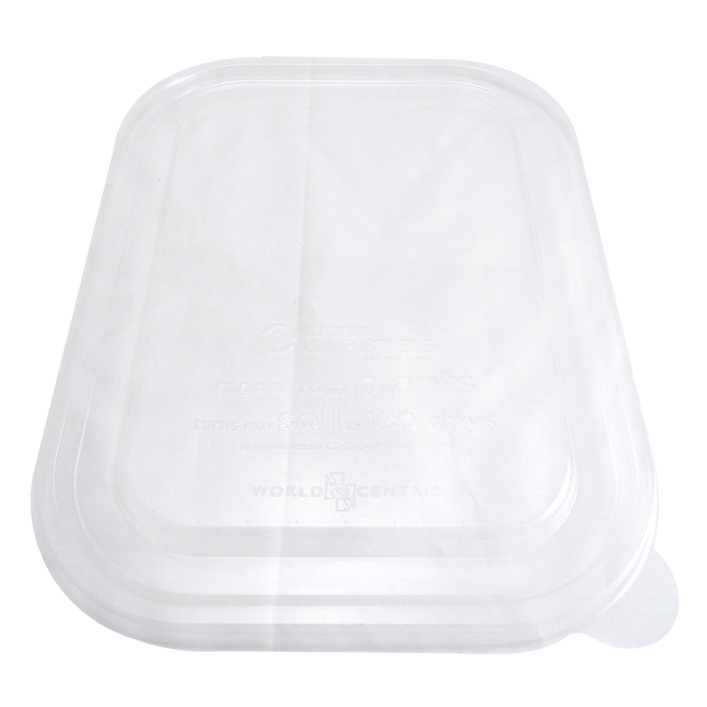 "*SPECIAL ORDER ITEM* Lid for 36 oz and 60 oz Fiber Tray, Size: 10""x7.5"", Material: PLA, Color: Clear, Compostable, 400/cs *ESTIMATED DELIVERY 4 TO 6 WEEKS* (NOT RETURNABLE)"