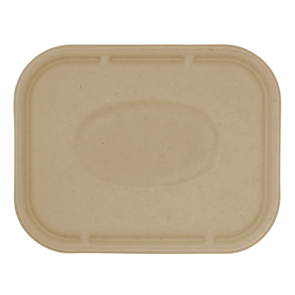 "*SPECIAL ORDER ITEM* Lid for 36 oz or 60 oz, Size: 10""x7.5"", Material: Unbleached Plant Fiber, Color: Natural, Compostable, 400/cs * SEE DETAILS BELOW"