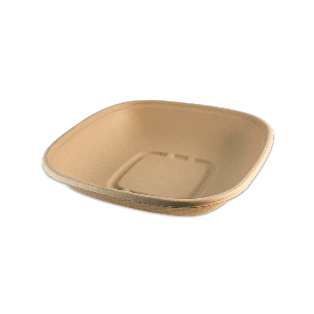 "*SPECIAL ORDER ITEM* 32 oz Fiber Square Bowl, Size: 8.3""x8.3""x1.8"", Color: Natural, Material: Plant fibers, Compostable, 400/cs *ESTIMATED DELIVERY 4 TO 6 WEEKS* (NOT RETURNABLE)"
