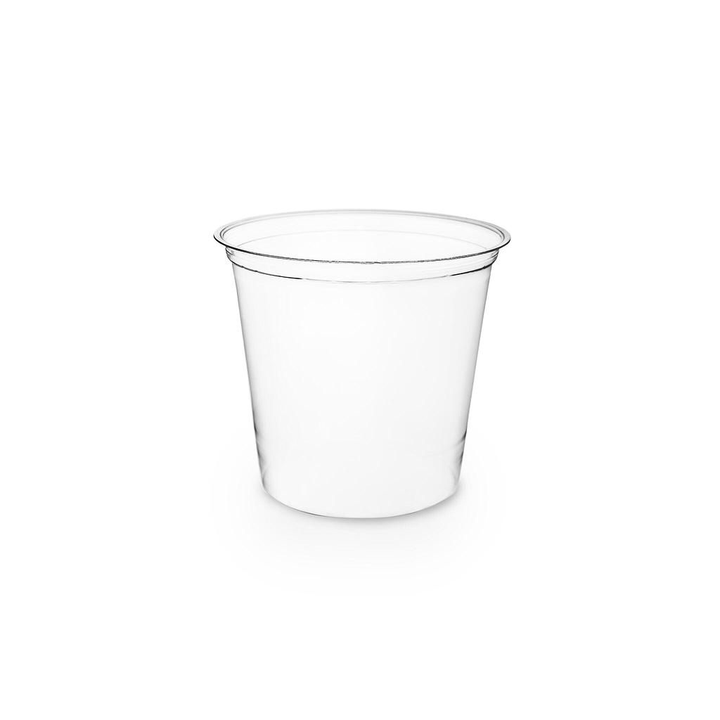 24 oz PLA Round Deli Container, Color: Clear, Compostable, 500/cs