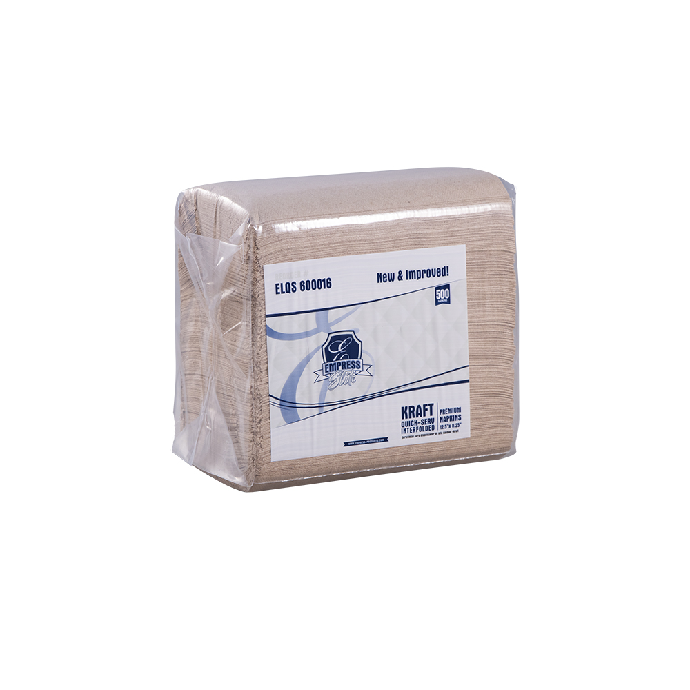 "*SPECIAL ORDER ITEM* Interfold Dispenser Napkin, 12.5"" X 8.5"", 1/4 Fold, 1Ply, Color: Kraft, 6000/cs *ESTIMATED DELIVERY 2 TO 3 WEEKS* (NOT RETURNABLE)"