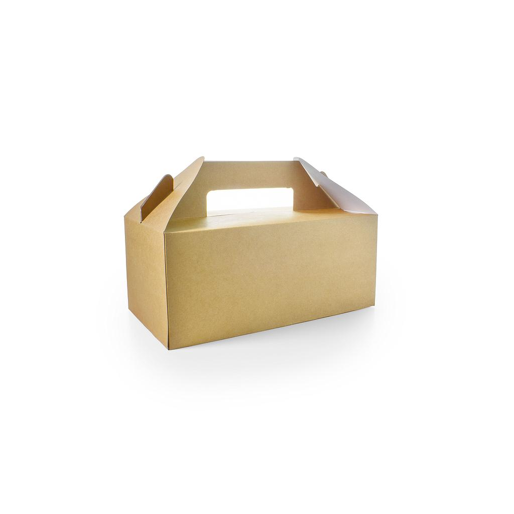 "*SPECIAL ORDER ITEM* Small Standard Carry Pack, Size: 8.9""x3.7""x4.8"", Material: Sturdy Kraft Board, Color: Natural, Compostable, 125/cs *ESTIMATED DELIVERY 4 TO 8 WEEKS* (NOT RETURNABLE)"