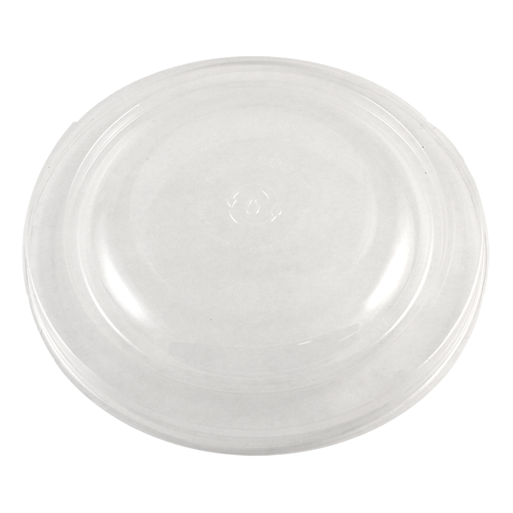*SPECIAL ORDER ITEM* Clear lid for 24 oz Fiber Round Bowl, Color: Clear, Certified Compostable, 300/cs *SEE DETAILS BELOW*